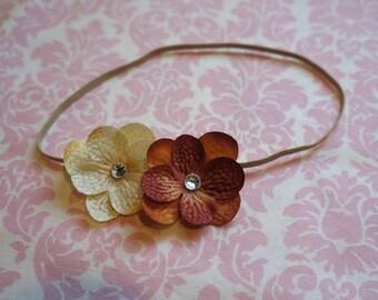 Fall flower headband/ Newborn headband/ Baby headband