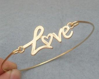 Love  Bangle Bracelet Style 5