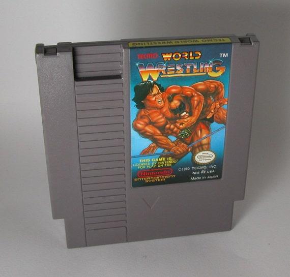 Vintage Nintendo World Wrestling (NES) 8 bit