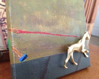 Boxer Dog Brooch - Mini Canvas Art  - For Dog lovers - Walk the dog