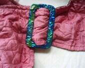Vtg. Pink Belt w/Colorful Buckle
