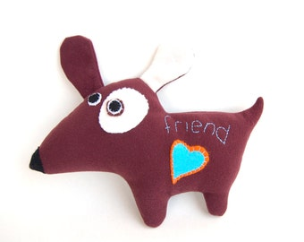 Felt toy gift for Friend plush dog for kids stuffed animal gift for friend
