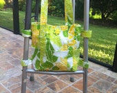 Walker Tote in Green and Yellow