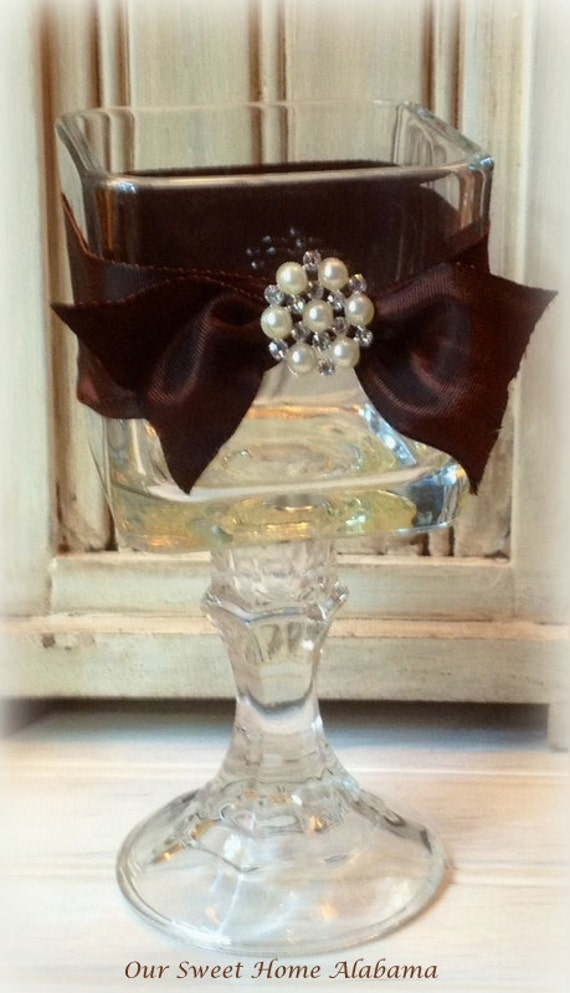 Items similar to candle votive table centerpiece rustic