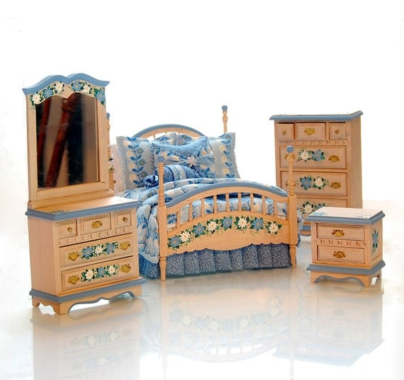 day z dreaming hand painted miniature dollhouse bedroom set