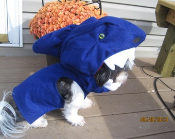 Custom made to Order Shark Dog Halloween Costume for smaller breed dogs SHARK WEEK!