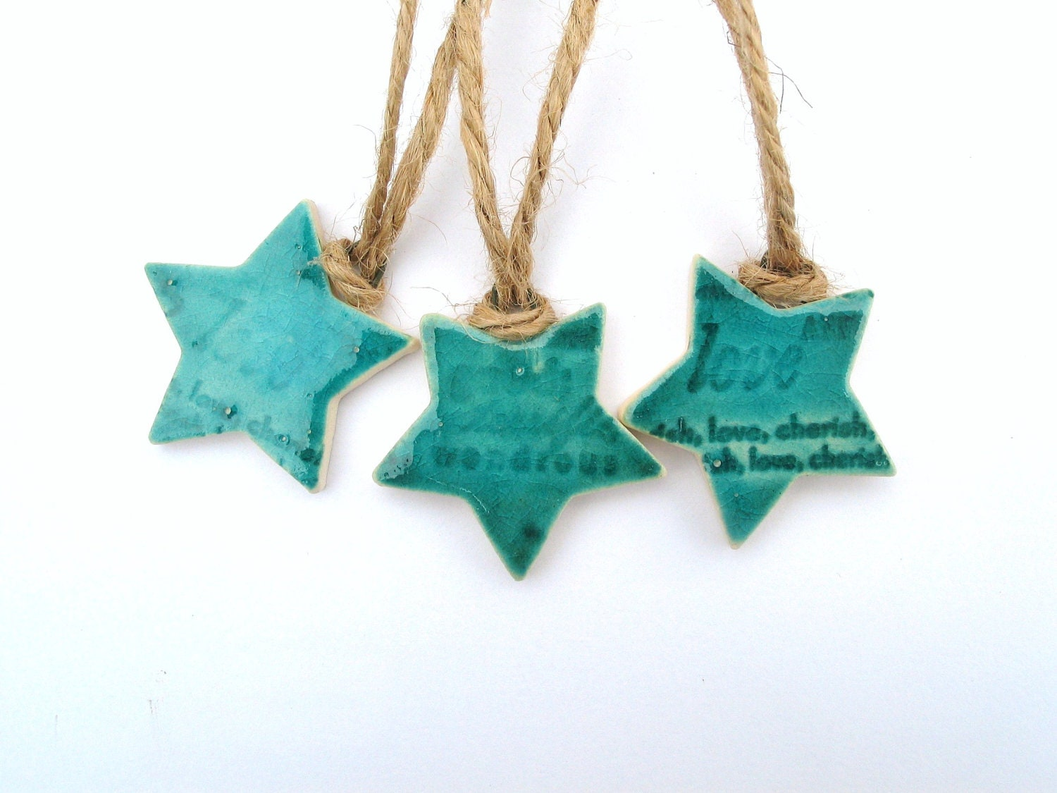 FOR TEENA ONLY Ceramic Christmas Tree Decorations Turquoise
