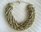 Vintage Multistrand Chunky Chain Necklace Destash Repurpose Recycle Repair Wear Piece