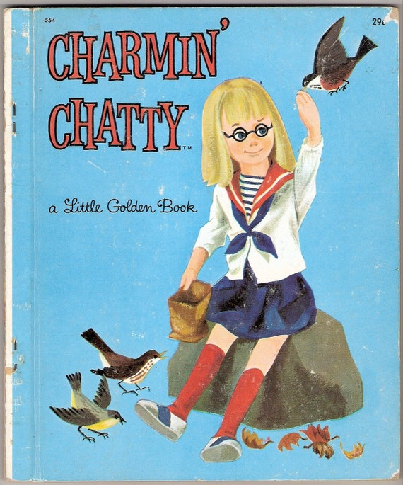 Charmin Chatty Vintage Little Golden Book Illustrated by Dagmar Wilson First Edition