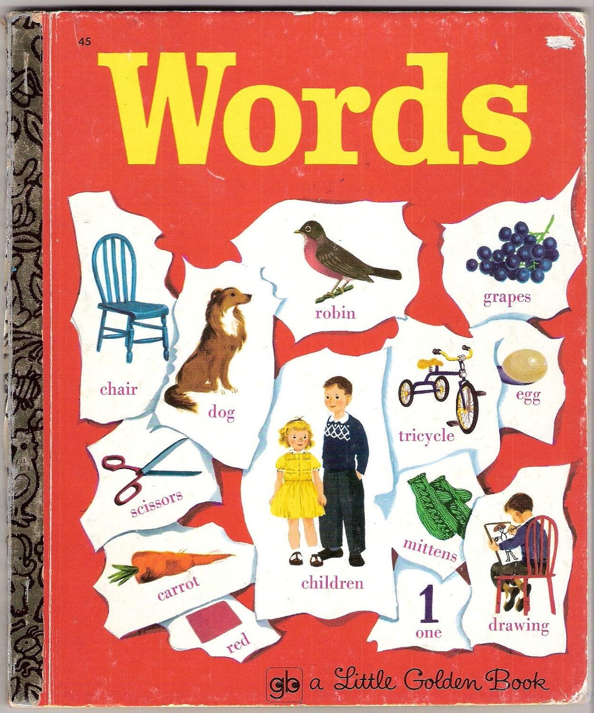 WORDS Vintage Little Golden Book Illustrated By Gertrude
