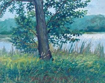 Snelling Lake - original oil painting