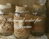 Reserved order for Loreene