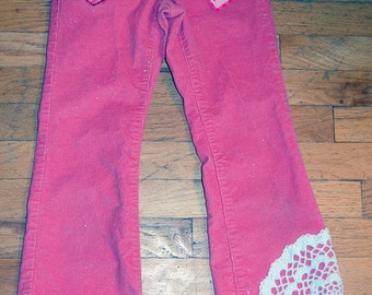 SALE!!! Reconstructed Girl's Pants - size 7