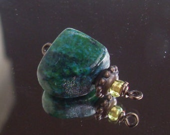 Antique Yellow Turquoise Nugget pendant