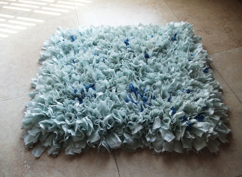 Fluffy Upcycled Rag Rug Bath Mat