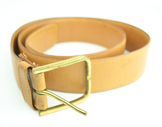 80's MENS Belt - Tan - Leather - Dooney and Bourke