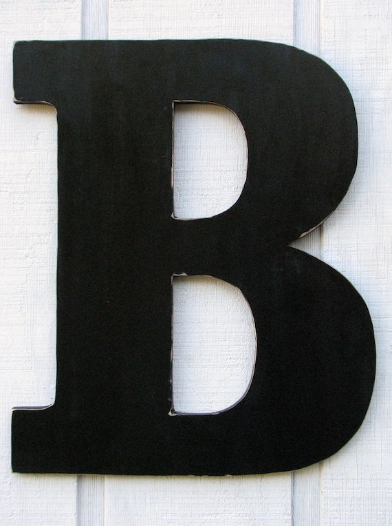 24 inch extra large wooden letter b distressed in black wood name letters
