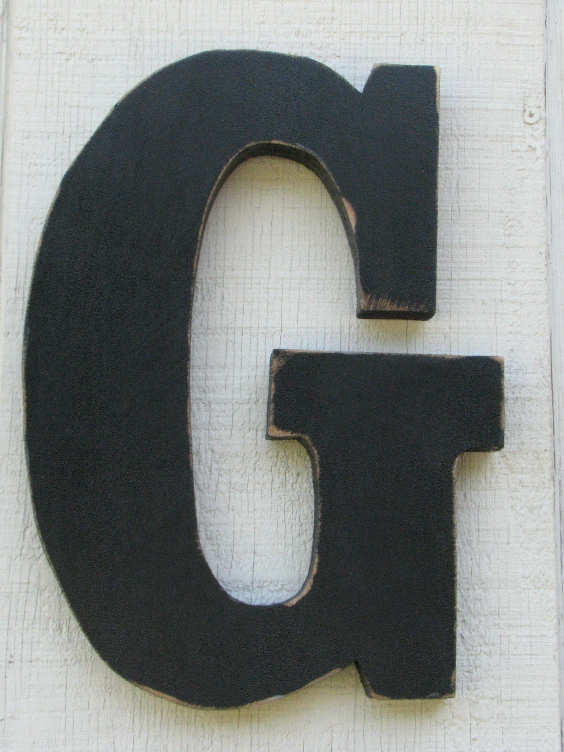 large wooden letter g distressed pavement by borlovanwoodworks With large wooden letter g