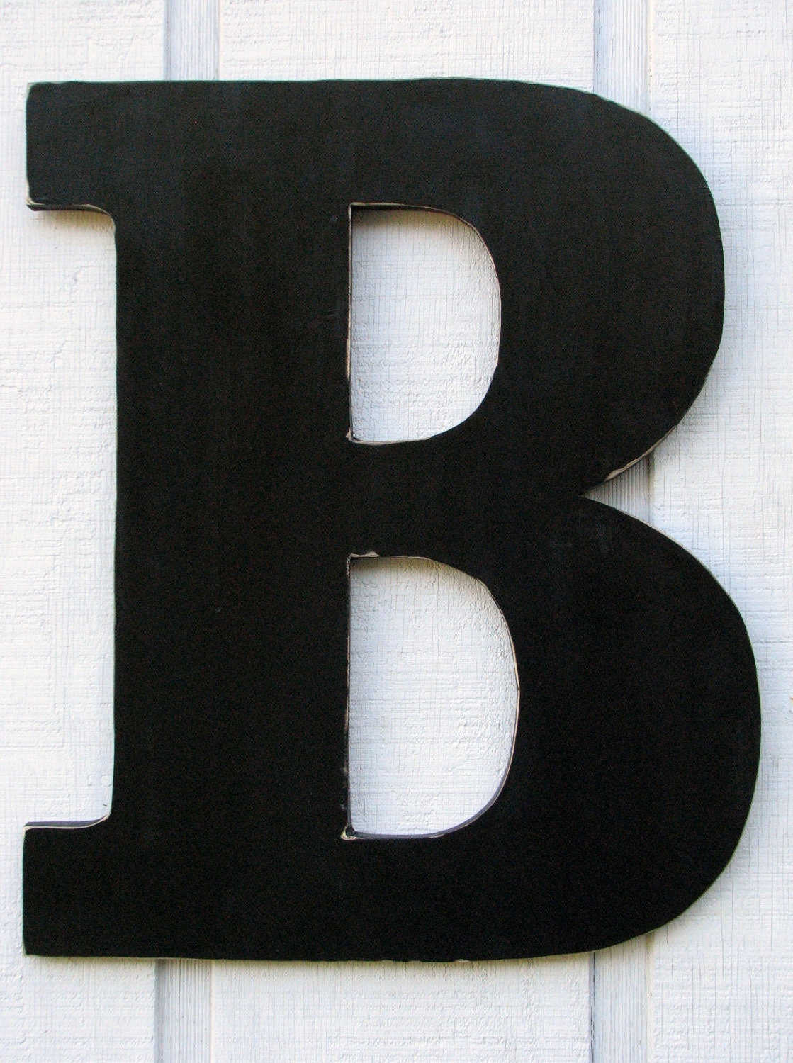 24 inch extra large wooden letter b distressed in black wood name letters custom wedding gift