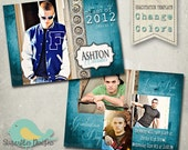Graduation Announcement PHOTOSHOP TEMPLATE - Senior Graduation 5