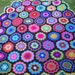 beautiful  crochet   picnic blanket / throw /bedspread.
