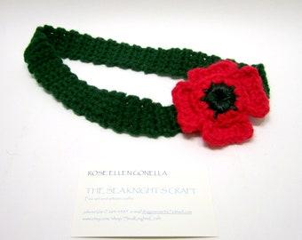 SALE: Red Flanders Poppy Hairband