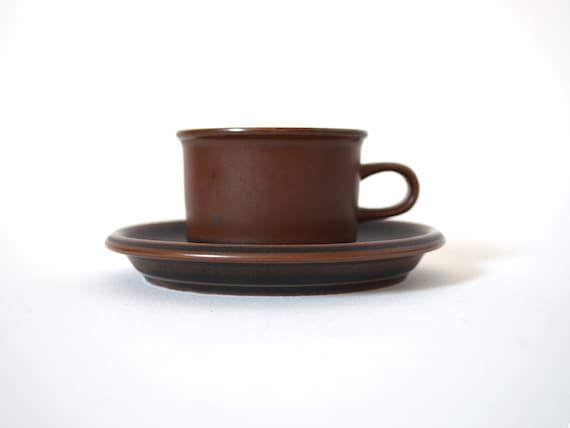 Ruska Arabia of Finland Espresso Cup and Saucer - Designed by Ulla Procope