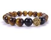 Mens Tigers Eye Energy Bracelet for Concentration