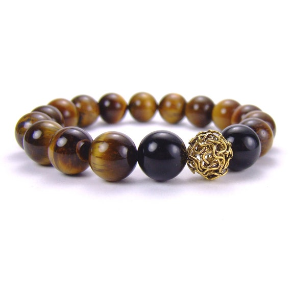 items similar to mens tigers eye energy bracelet for