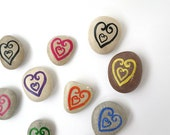 Valentine's day, Time to Give Your Love, Beach Pebbles with Magnets, Heart, Unique Gifts for Family and Friends, Sea Stones, Rocks