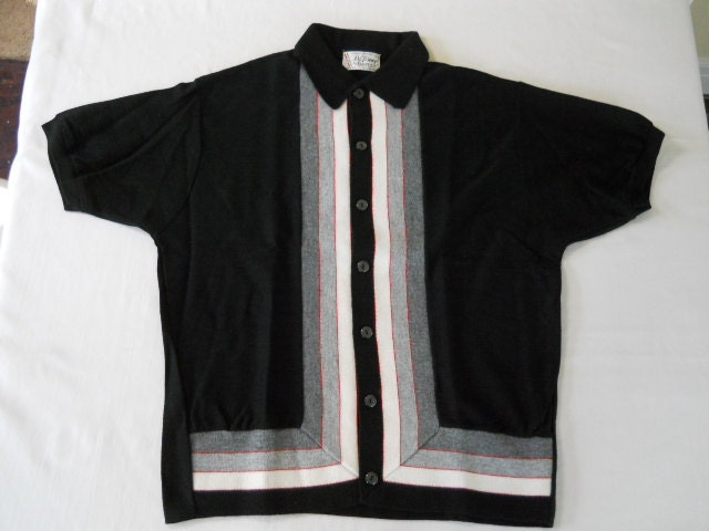 Vintage Mens Shirt Jac Rockabilly Mod Polo Di By