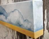 Cloud Landscape original oil painting wall art storm abstract neutral sand colors home decor - Latitude series five