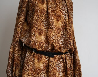 Animal print dress size 8-10 FREE UK SHIPPING