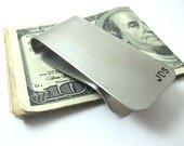 Personalized Money Clip Stainless Steel Monogram Money Clip Hand Stamped