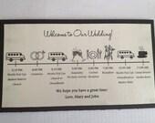Double Layered Wedding Timeline Card