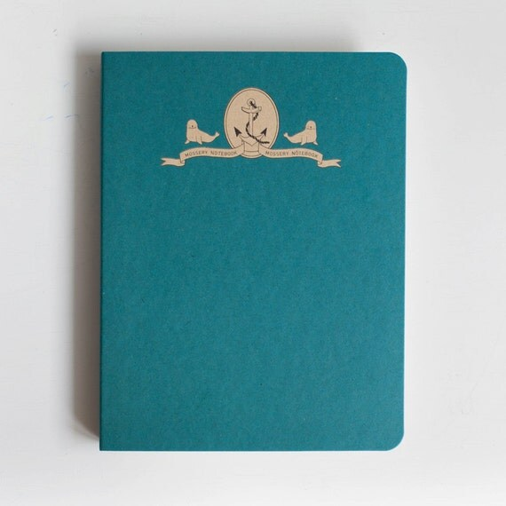 Let's Sail With Seals Blank Paper A5 Notebook