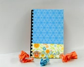 Logon and password book with orange blossom and blue lace design