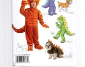 Simplicity 1765    Childs Dinosaur and Dragon and Dog Costumes    Sizes: 3, 4, 5, 6, 7, 8  -  Dog sizes  S, M, L