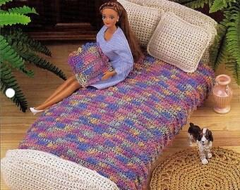 Fashion Doll Bedroom  Barbie Furniture - Crochet Doll Furniture Pattern FC25-02