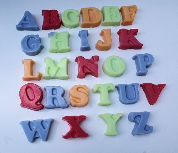 Children's Bath Soap: Alphabet, Kid, Fun, ABC, Letters, Lavender