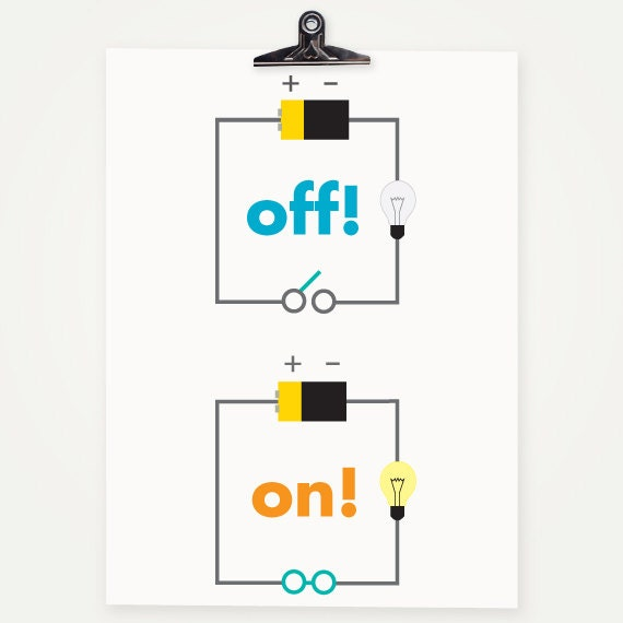 items similar to circuit diagram - science kids nursery art print
