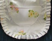 Girl's Cook Apron Flower Daisies Easter Spring White Yellow Pink Fashion Little Helpers Ruffled Pocket Ready to Ship