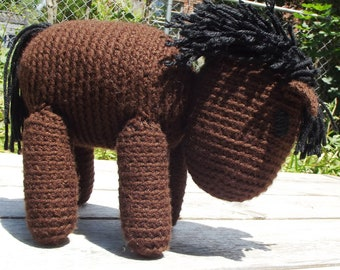 Handmade Crochet Stuffed Animal - Horse