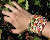 Bohemian Braided Bracelet - Green & Orange (Small)