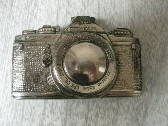 Vintage Pentax Metal Belt Buckle  SLR Camera