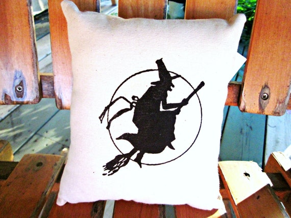 Halloween pillow, burlap pillow, shabby chic, farmhouse decor, cottage style pillow, witches , holiday pillow, halloween