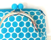 Coin Purse and Pencil Pouch Set - Blue Dots