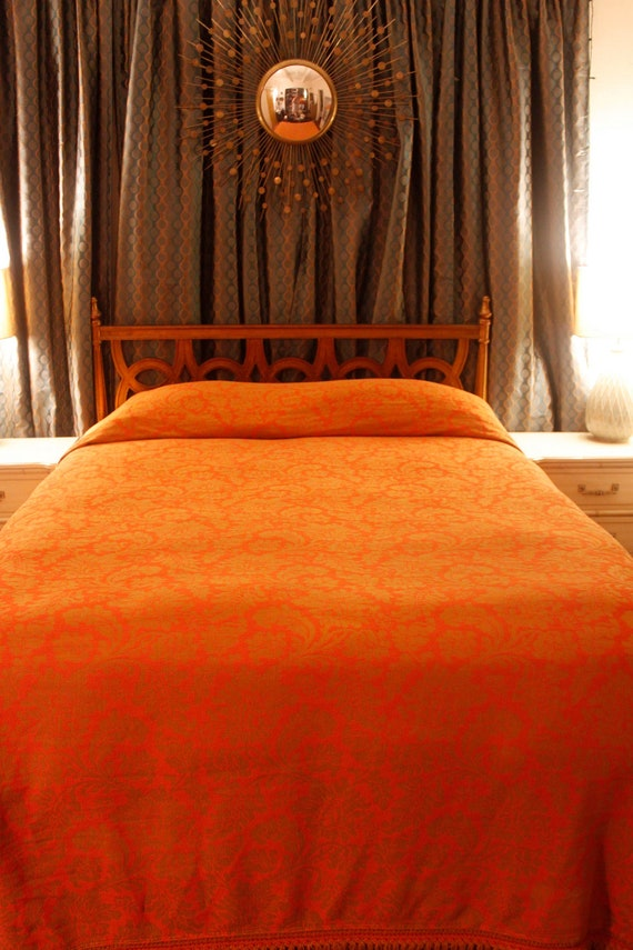 Beautiful Tapestry Fringed Bedspread Fit for a King or Queen
