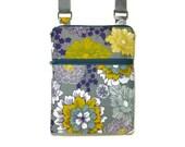 Gray purple cross body purse sling bag adjustable strap shoulder vacation travel wallet hobo hipster shopping kindle grey