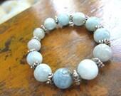 Aqua Adventurine Gemstone Bracelet